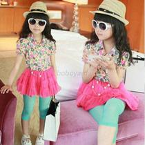 Vestido Niña Con Leggings Tallas 3-4 -5