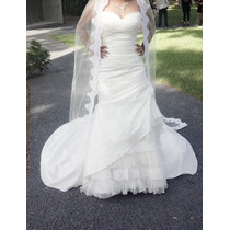 Vestido De Novia De Diseñador Eduardo Nieves Color Ivory