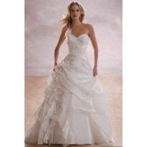 Vestido De Novia Hermoso Blanco Talla 34-36