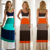 Vestido De Colores Largo