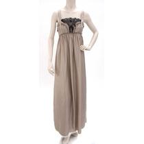 Vestido Largo De Seda Con Encaje Vera Wang