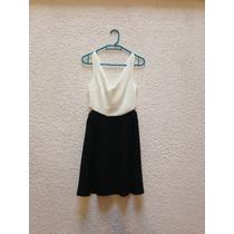 Vestido Blanco Con Negro Bershka
