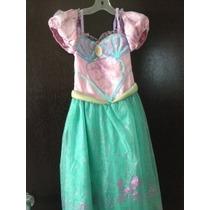 Vestido De La Princesa Ariel Talla S(5/6)