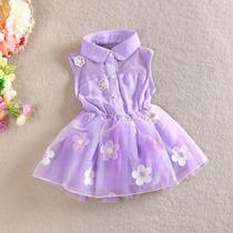 Vestidos Niña Talla 3-4 Tul Corto Casual