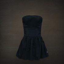 Vestido Hollister Strapless Azul Marino