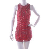 Vestido Rojo Con Lentejuela Parker