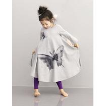 Bonito Vestido Mariposa Para Niña Promocion Moda Asiatica