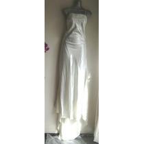 Vestido Blanco De Novia Bordado Con Pedreria Talla 9 Mediana