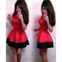 Vestido Rojo L / G Plisado / Manga
