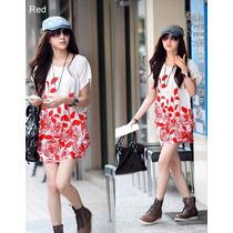 Bonita Blusa Barata Vestido Flores Moda Japonesa Asiatica