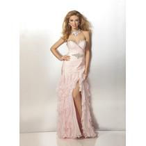 Hermoso Vestido De Novia Organza Corte Sirena Con Cristales