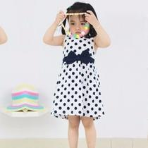 Moderno Vestido Bolitas Para Niña Promocion Moda Asiatica