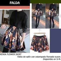 *fashionstore* Kenia Blue Skirt. Falda De Satin Estampada