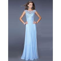 Hermoso Vestido Moda Asiatica Color Azul