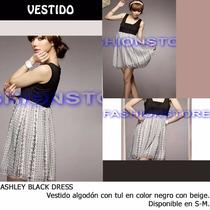 *fashionstore* Ashley Black & White Dress. Vestido Casual