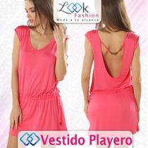 Sensual Y Hermoso Vestido Playero Corto Varios Colores Pareo