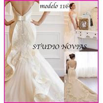Vestido De Novia Nuevo Económico Sirena Blanco Ivory 116