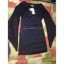 Vestido C2c Negro Corto Mangas Estilo Gótico Dark Talla 12