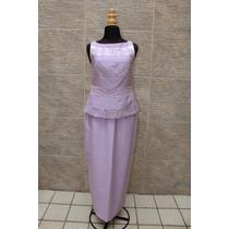 Vestido De Coctel Largo De 2 Piezas Lavanda
