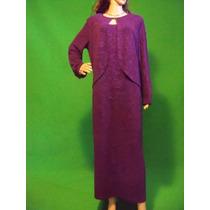 Vestido Gala Dama Talla L (14 En Usa) Color Morado Bodas Xv