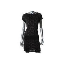 Vestido Negro Talla Mediano Con Encaje Marcatatiana B