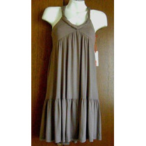 Vestido Color Beige Talla M, Marca Thinner Usa
