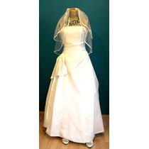 Vestido De Novia Scandra Ivory Talla 30 - 36