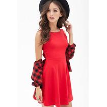 Forever 21 Vestido Tipo Bailarina Rojo Con Moño En Espalda M