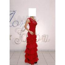 Vestido De Noche Graduación Rojo