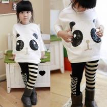Conjunto De 2 Blusa Y Pantalon De Panda Niña Moda Japonesa