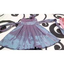 Vestido De Nena Talla 7 Años Satinado