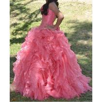 Vestido De Quinceañera Color Coral