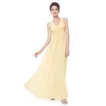 Baituya Vestido De Boda De Noche De Baile Amarillo