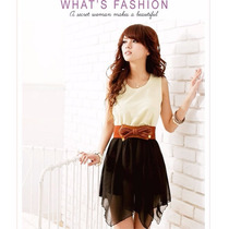 Sexy Vestido Corto Con Cinto Barato Moda Japonesa Promocion