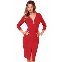Vestido Rojo Navidad Casual Fiesta Otoño Invierno 2015