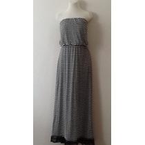 = Maxi Dress Strapless Algodon Con Forro Talla Plus