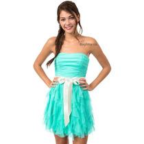 Vestido De Fiesta Corto Turquesa