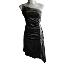 Vestido Negro Sexy Tipo Corset Gotico Dark Terciopelo Encaje