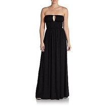 Maxi Dress Vestido Negro Escotado Talla Extra Xl