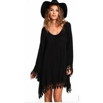 Vestido Negro Corto Casual Moda Antro Playero