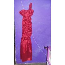 Vestido Largo, Rojo, De Un Tirante. Buena Calidad