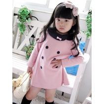 Bonito Vestido Rosa Para Niña Promocion Moda Japonesa