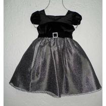 Dress Vestido Plateado Glitter Youngland 4 Años Fiesta Paje