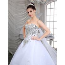Vestido De Novia Boda Princesa Organza Y Tull Elegante
