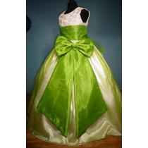 Vestido De Paje Pajecita Para Niña Falda Color Verde