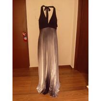 Vestido De Noche Liz Minelly Negro Degradado // Nuevo