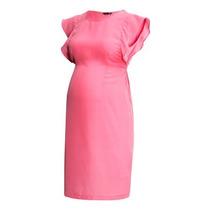 Vestido De Maternidad H&m, Rosa, Satin, Talla Mediana
