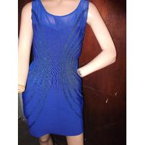 Mini Vestido Marca Soho Azul Electrico O Rey Oferta Remate