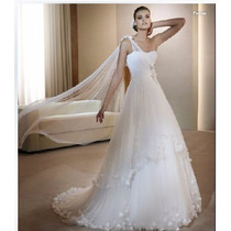 Remate Vestido Blanco Largo Fino De Fiesta Noche Gala Hm4