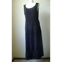 Vestido Largo Negro Con Bordados Inferiores Talla S Vst324